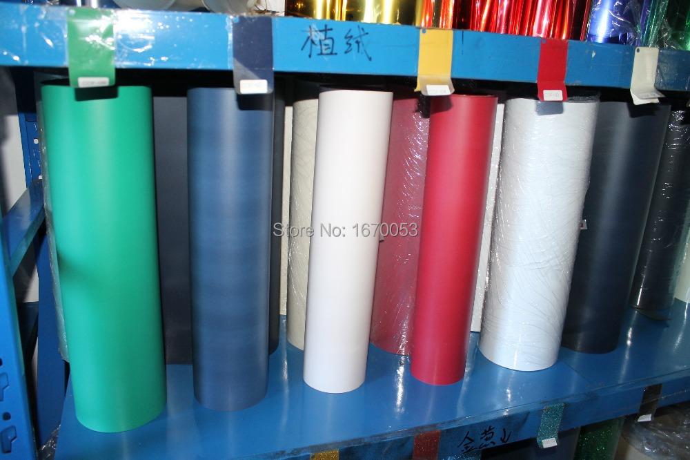 1roll(25 Meters)/lot Free DHL Korean Quality Flock Heat Transfer Vinyl for Garment(China (Mainland))