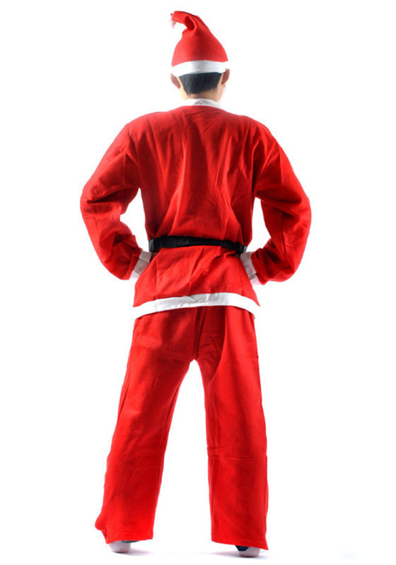 5 pcs set Christmas Gift Red Mens Santa Claus Costume Novelty Cloth Christmas Men Male Xmas