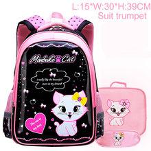 New Backpack Schoolbag Children School Bags For Girls Sweet Cute Cartoon Princess Cat Children Backpack Kids Bag School Backpack(China)