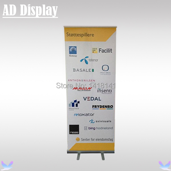 85*200cm 2.02kg Standard Aluminum Advertising Roller Banner,Pop Up/Roll Up/Pull Up Banner Exhibition Display Stand(China (Mainland))