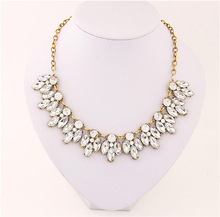Buy Match-Right New Women Statement Necklace Link Chain Necklace Fashion Choker Necklace Rhinestone Wheat pendants Jewelry Trends for $2.49 in AliExpress store