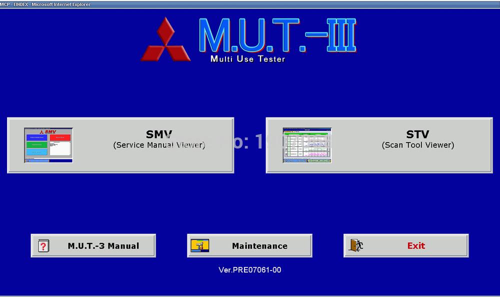 Mitsubishi MUT III (Fuso version) 1.11 (diagnostic system)(China (Mainland))