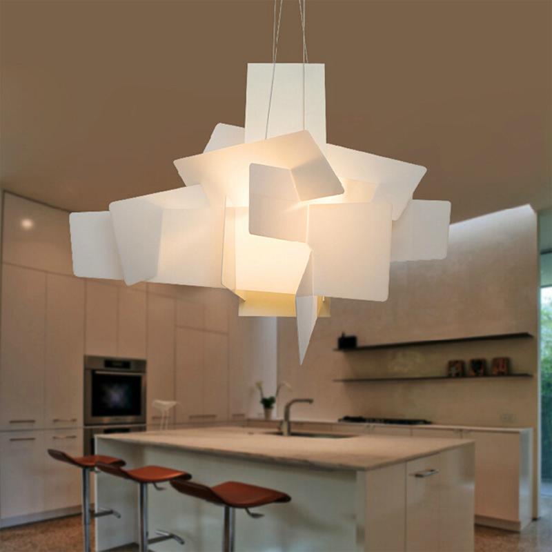 Moderne Foscarini Big Bang Pendant Lights blanc acrylique lampes salle ...