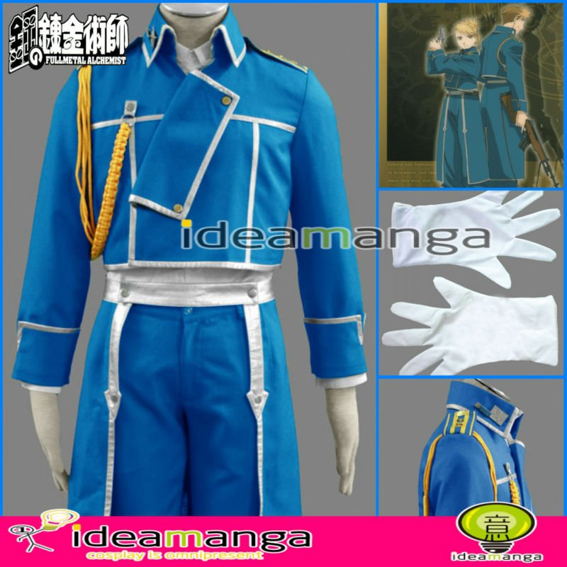 Fullmetal Alchemist  Riza Hawkeye Military Winry Rockbell Women's Uniform Man's Cosplay Costume Male halloween party Any Size