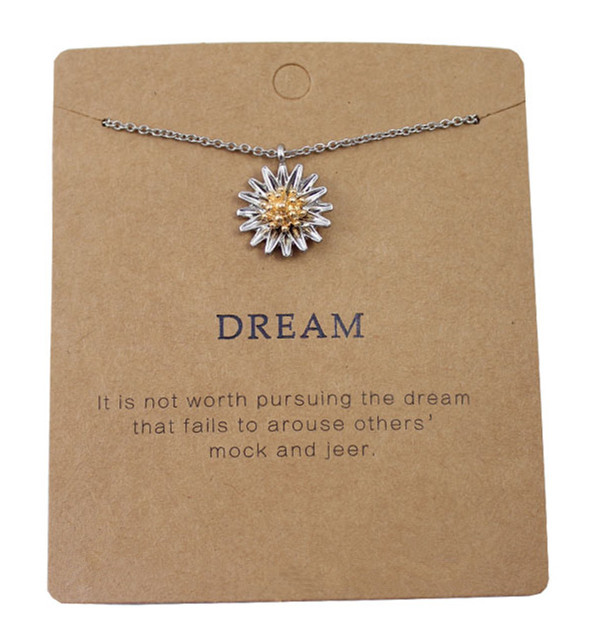 Mixed Metal Daisy Flower Pendant Necklace Cute Zinc Alloy Plant Small Flower Necklace for Women SFN173(China (Mainland))