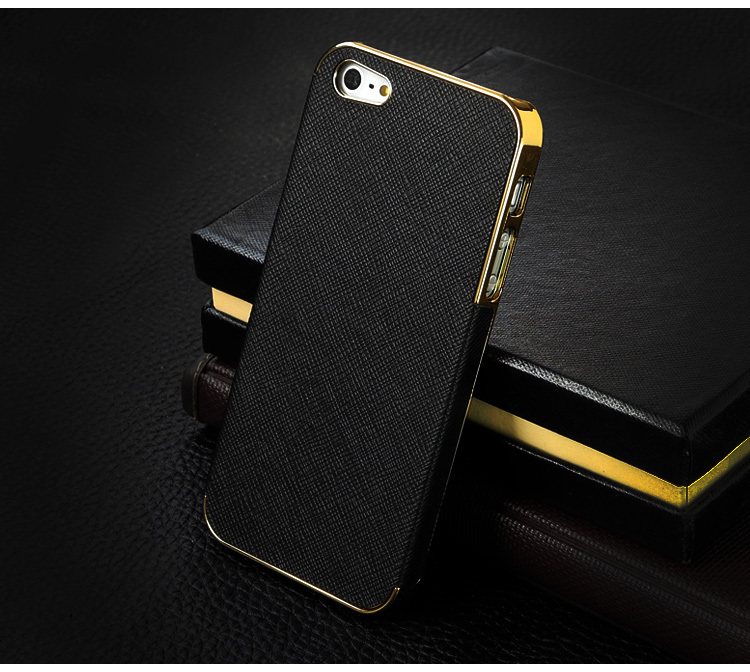 Business Style Luxury Back Cover Cross Pattern Leather Case for iPhone 5 5s,Fashion Leather Hard Cover case for iPhone 5 5s(China (Mainland))