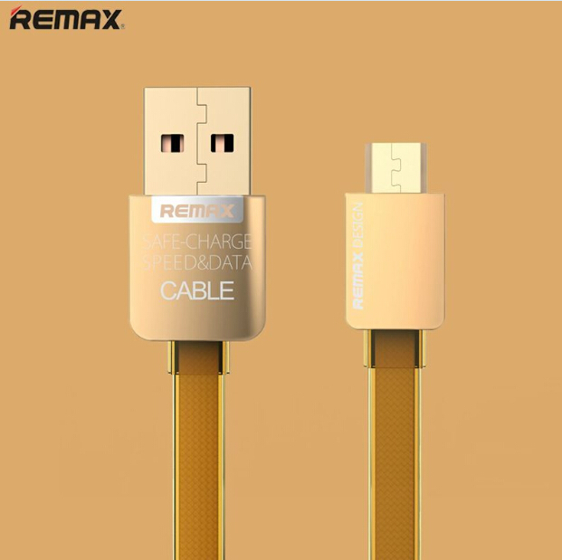 Original Remax 100cm 5V/2.1A High Quality Guarantee Gold Micro USB Cable Fast charging for all Micro USB for Samsung / XIAOMI(China (Mainland))