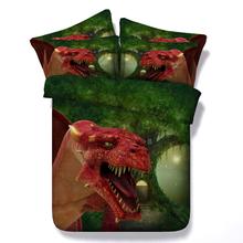 3d Fantasy Dragon font b protector b font Hd digital print bedding set