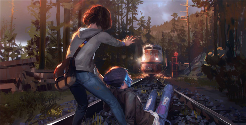 Life is strange Stop train canvas painting pictures on the wall Oil Paintings Living Room Bedroom Decor Paintings wall art(China (Mainland))