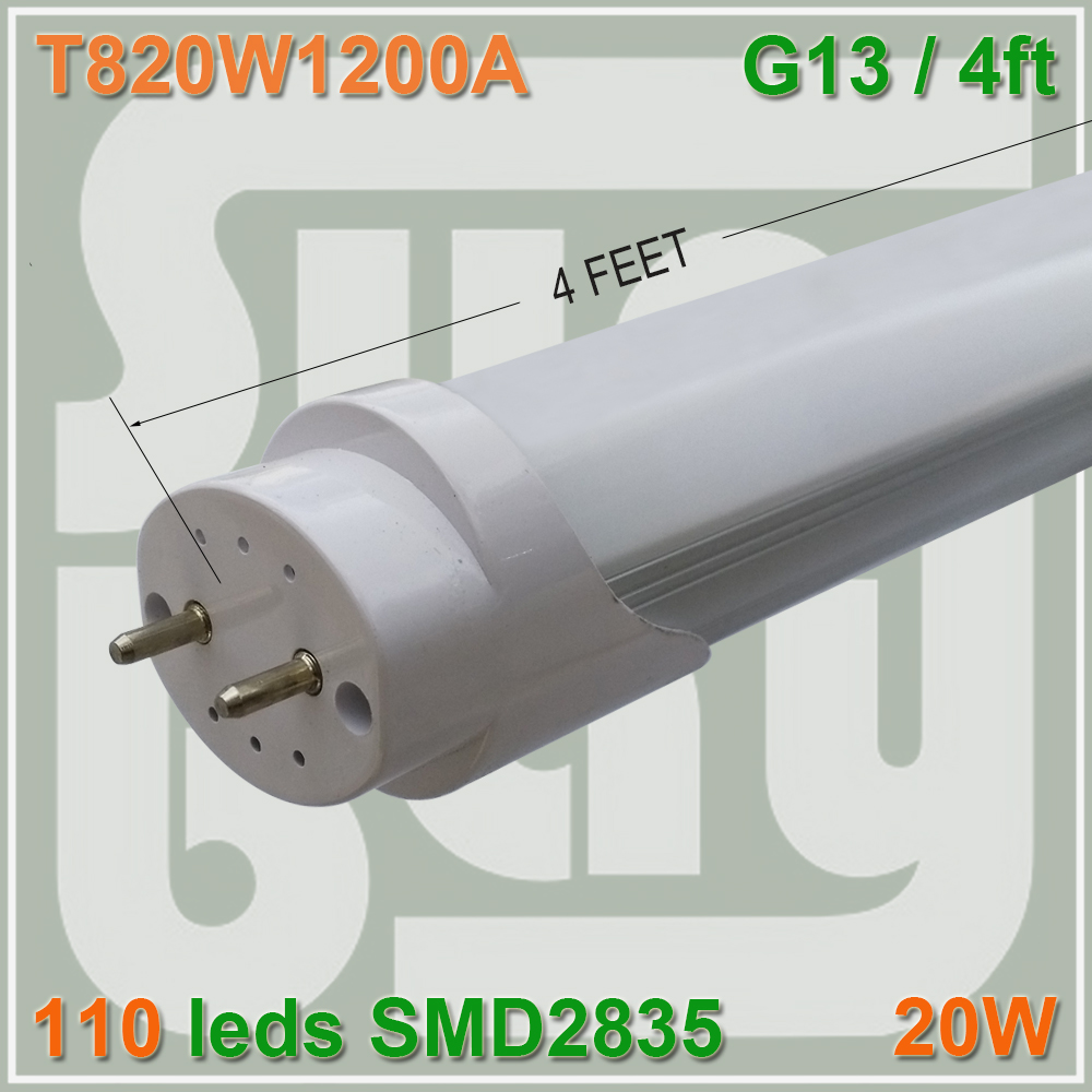 4pcs/lot LED tube T8 lamp 20W 1200mm 1.2M 120cm 4FT SMD2835 compatible with inductive ballast remove starter(China (Mainland))