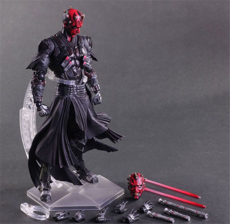 New 11 Star Wars Play Arts Kai Darth Maul Collection Model Anime Action Figures Toys Star Wars Juguetes Doll Brinquedos in Box<br><br>Aliexpress