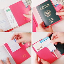4 Color Sweet Bowknot Buckles Passport ID Card Holder Protect Cover Case Free Wholesale