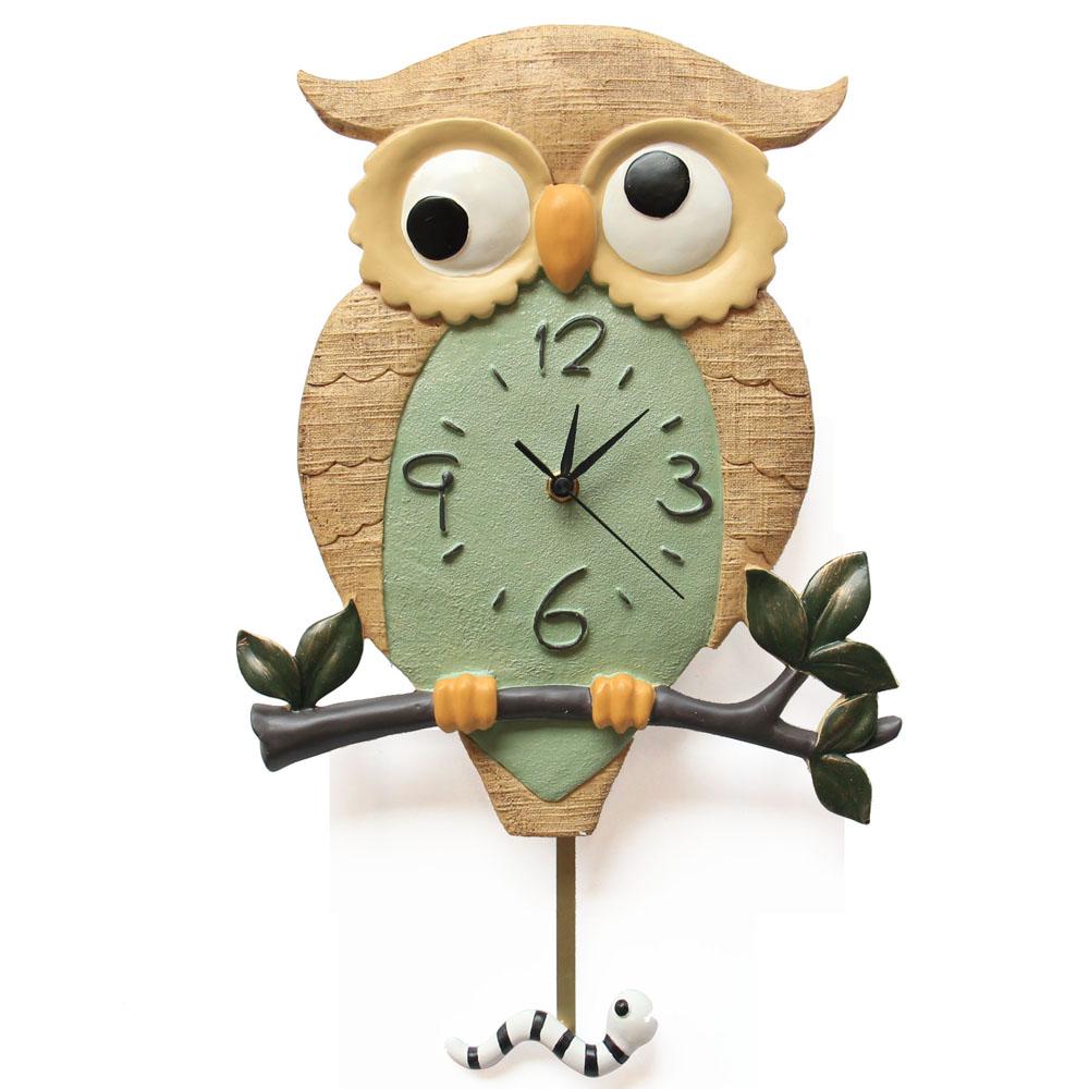 Wall clock personality quiet art fashion creative living room large digital owl clock(China (Mainland))