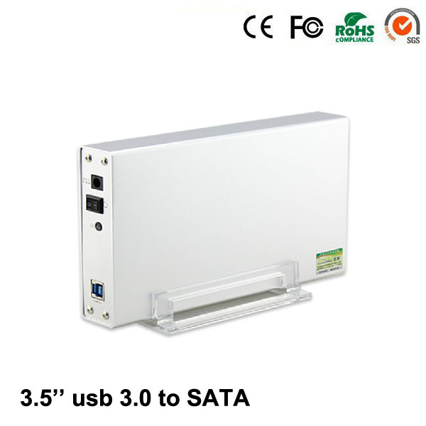 "2016 Stock 2.5"" 3.5"" Optibay Hot Sale Hdd Box Aluminum Silver Usb 3.0 Ssd 2.5'' 3.5'' Inch To Sata I Ii Iii Up 3tb Case(China (Mainland))"