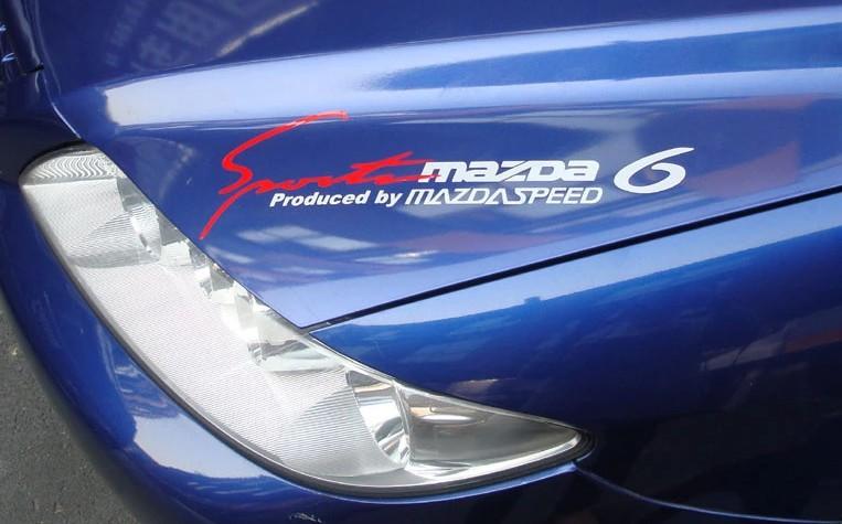 Free shipping high quality custom made car eyebrow light letting sport sticker reflective vinyl film for Mazda6(China (Mainland))