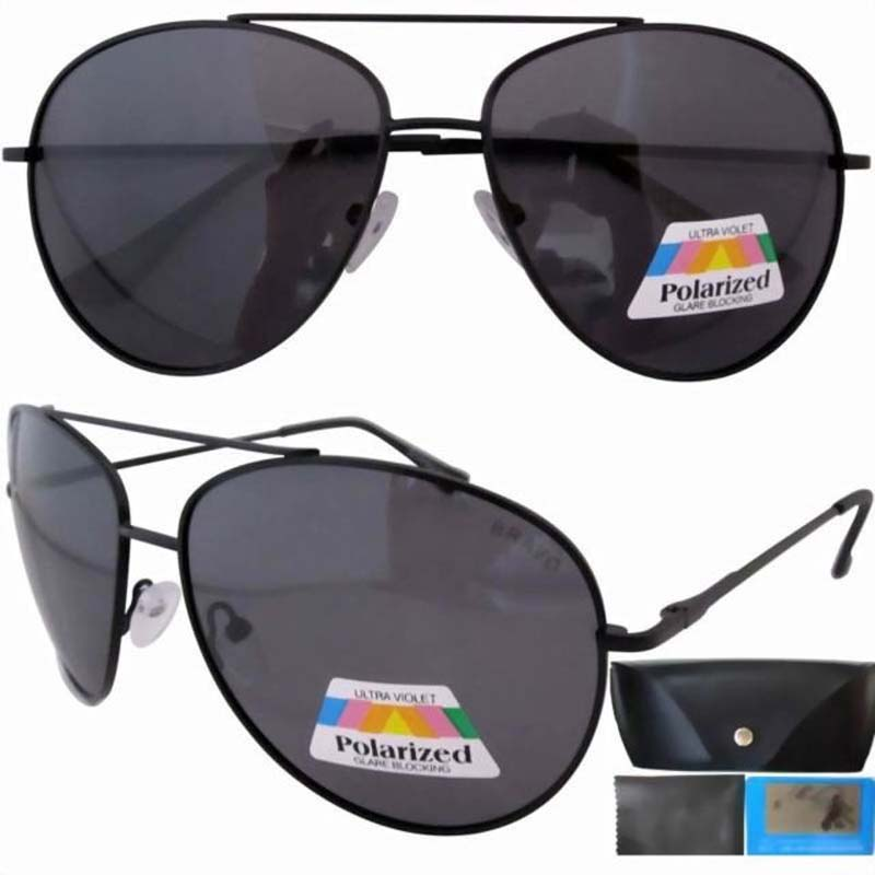 12077 Gray Lens Free Case Spring Hinge Temple Polarized Large Sunglasses(China (Mainland))