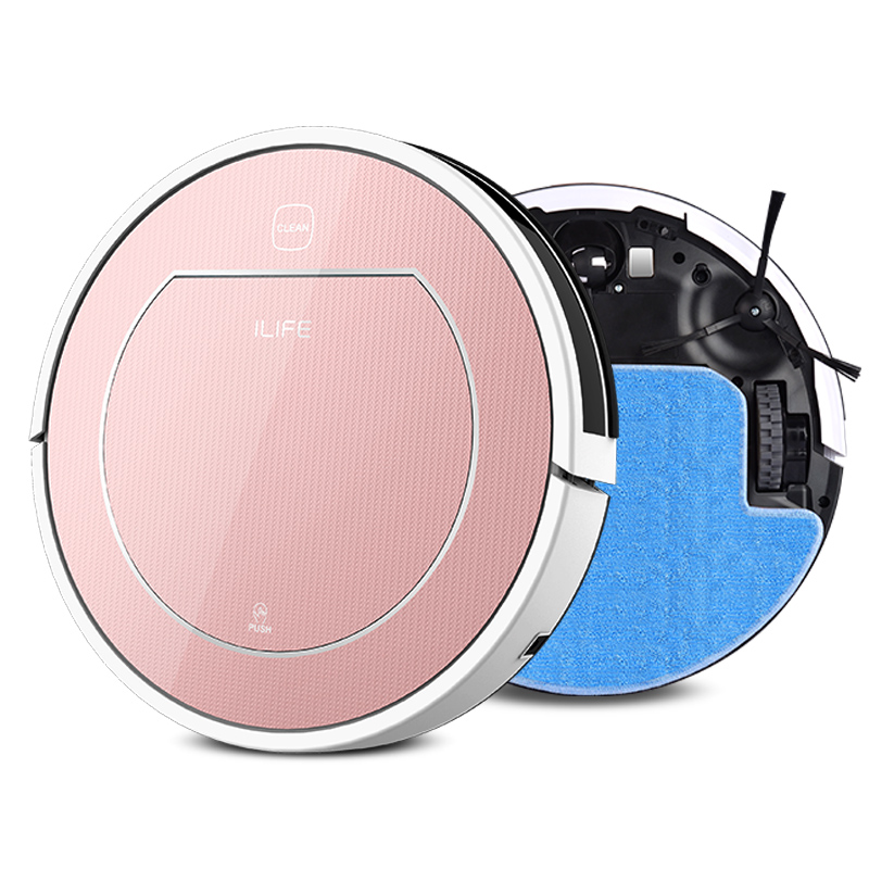 ILIFE Wet Robot Vacuum Cleaner for Home Wet Dry Clean Water Tank Double Filter,Ciff Sensor,Self Charge V7S ROBOT ASPIRADOR(China (Mainland))