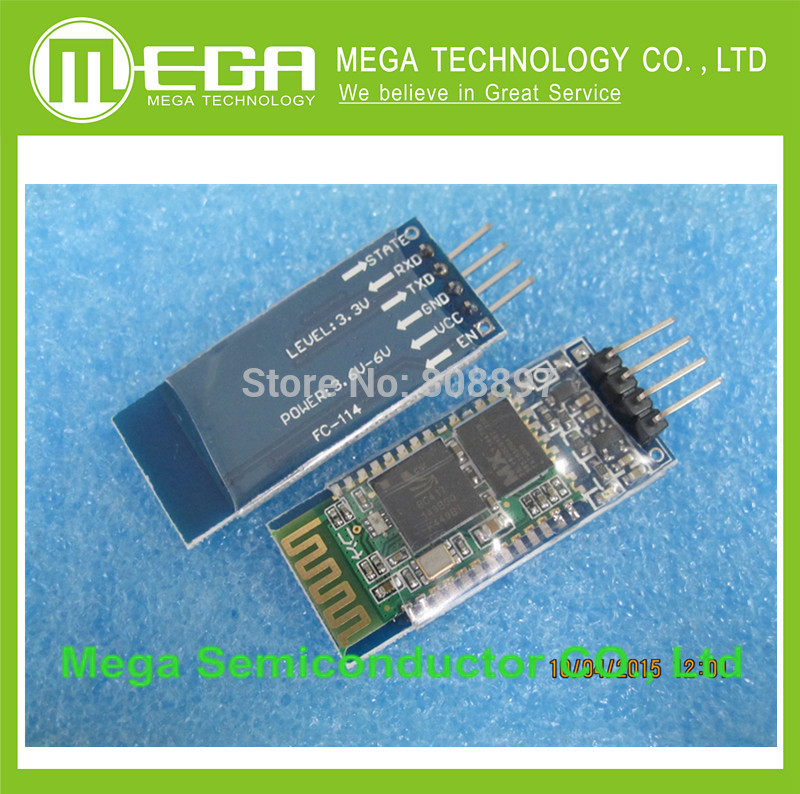 Free shipping 1pcs HC-06 HC06 JY-MCU BT BOARD V1.05 4pin Bluetooth serial pass-through wireless serial communication module(China (Mainland))
