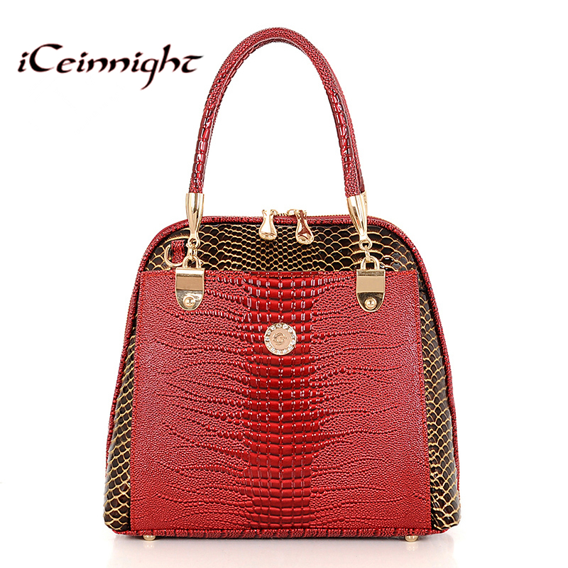 2017 Women Handbag PU Crocodile Leather Crossbody Bags Brand Tote Fashion Women Messenger Bags Clutch Shoulder Bag Bolsas hand(China (Mainland))