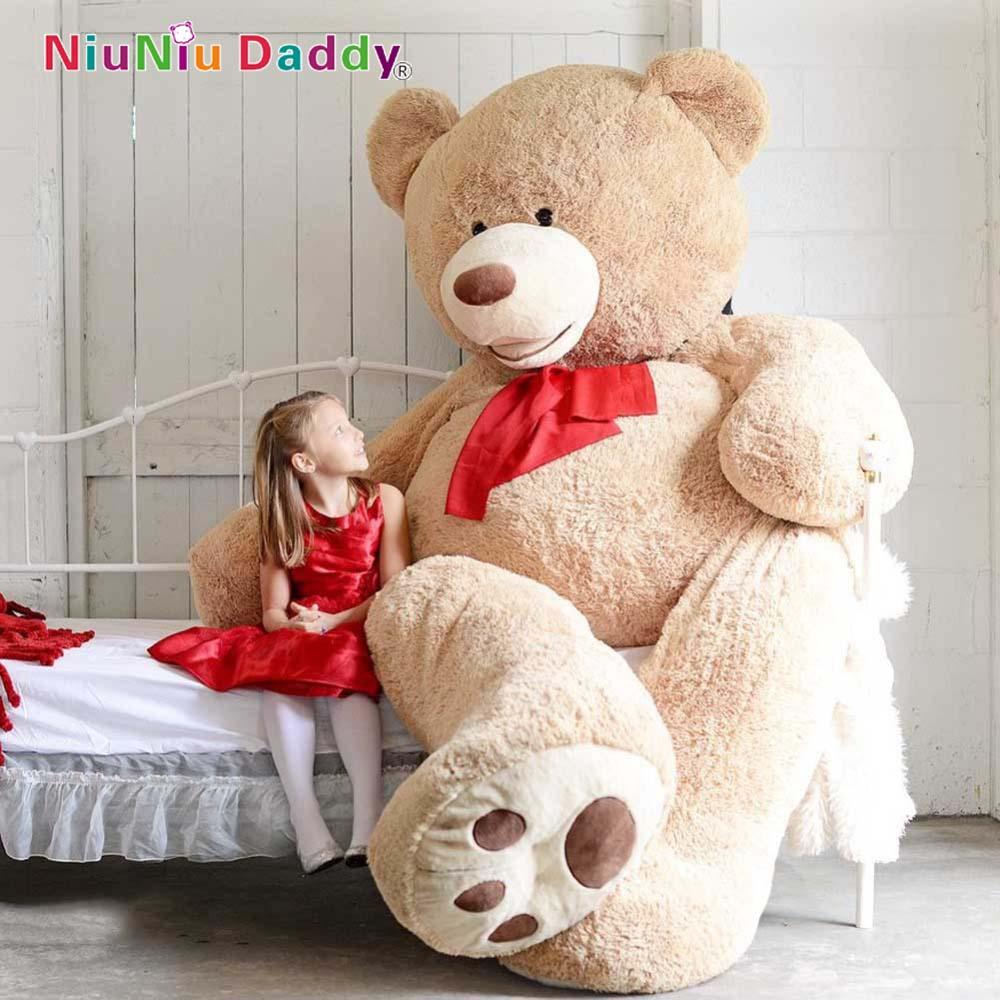 200cm Big Size USA Teddy Bear Large Bearskin Giant Bear #(China (Mainland))