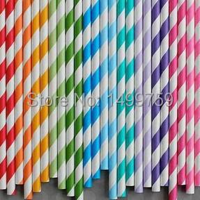 400ppcs/Lot Drinking Paper Straws For Wedding Decoration Casamento Lembrancinha De Casamento Paper Straws Mixed Multicolor(China (Mainland))