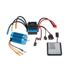 New 3650 3300KV/4P Brushless Motor & 45A Brushless ESC & LED Programming Card Combo Set for 1/10 RC Car(China (Mainland))