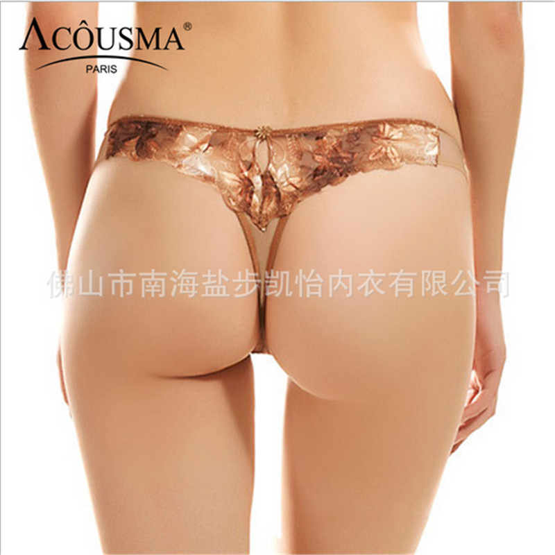2016 New Top Fashion Sexy woman thong High-quality embroidered lace low-waist Seamless G String Plus size code Underwear panties