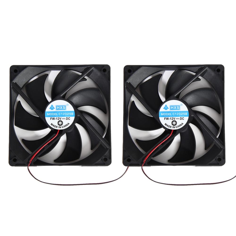 2pcs 120mm 120x25mm 4Pin DC 12V Brushless PC Computer Case Cooling Fan(China (Mainland))