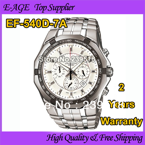 2015 New Free shipping ef watches men Chronograph Steel Sports Watch EF540D-7AV Quartz men brand watch for man with tools box(China (Mainland))