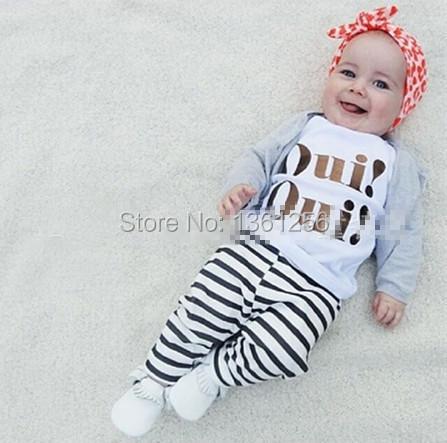 2016 autumn baby girl clothing set newborn clothes Long sleeve T shirt + pants 2 pcs lovely infant suit baby costume(China (Mainland))