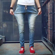 2016 New Fashion Hots Jeans Ripped Skinny Trousers Slim Men's Jean Denim Biker Pants Plus Size Washed Male Jean Free Shipping