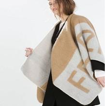 2014 New brand za camel cashmere blanket scarves designer scarf high quality women winter warm shawl wraps poncho HOT SELL(China (Mainland))