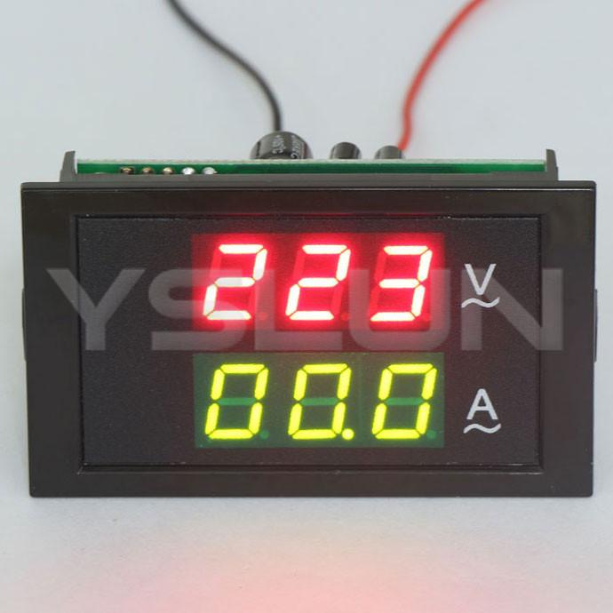 Вольтметр Voltmeter Amperemeter 5 /ac /ac110v 220V 80 300V/100 2 1 + 2in1 Volt Amp Meter ac цифровой амперметр вольтметр панель lcd amp вольтметр 100a 300v 110v 220v