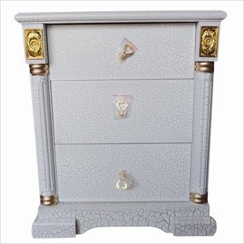 Bedside cabinet fashion prince bed drawer crack paint solid wood