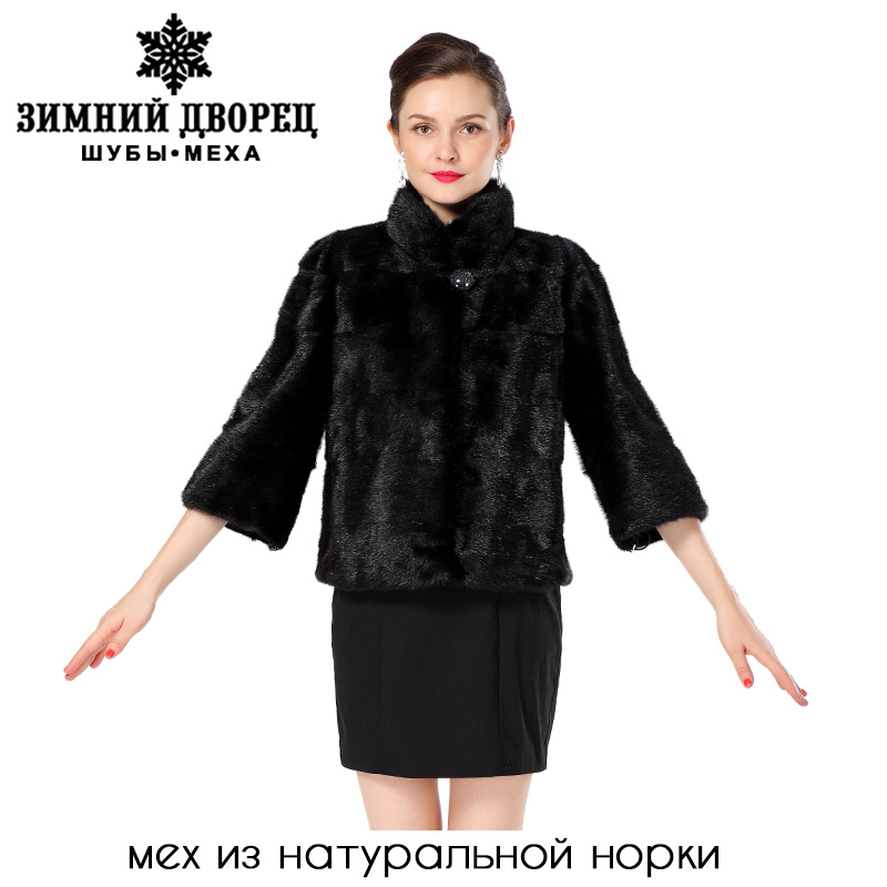 2015 new women's fur vest, black short-sleeve fashion collar real fur vest, winter fur coats, coats of fur, free shipping(China (Mainland))