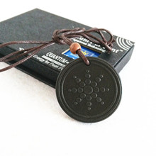 2 Pcs/lot Quantum Scalar Energy Pendant Health Necklace Lava Material with retial box Free shipping(China (Mainland))