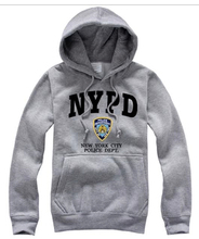 Free Shipping Hot Sale Cheap Brand NYPD New York City Police Dept Letter Print Gray Black Red Man Sweatshirt Hoody Hoodies(China (Mainland))
