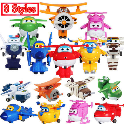 Best Sale Super Wings Super Wings Mini Planes Deformation Airplane Robots Action Figures Transformation children Christmas Gifts(China (Mainland))