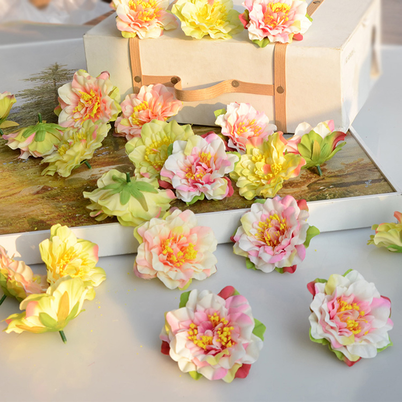 20pcs wholesale silk flower heads centerpieces weddings artificial flowers decoration mariage. Black Bedroom Furniture Sets. Home Design Ideas