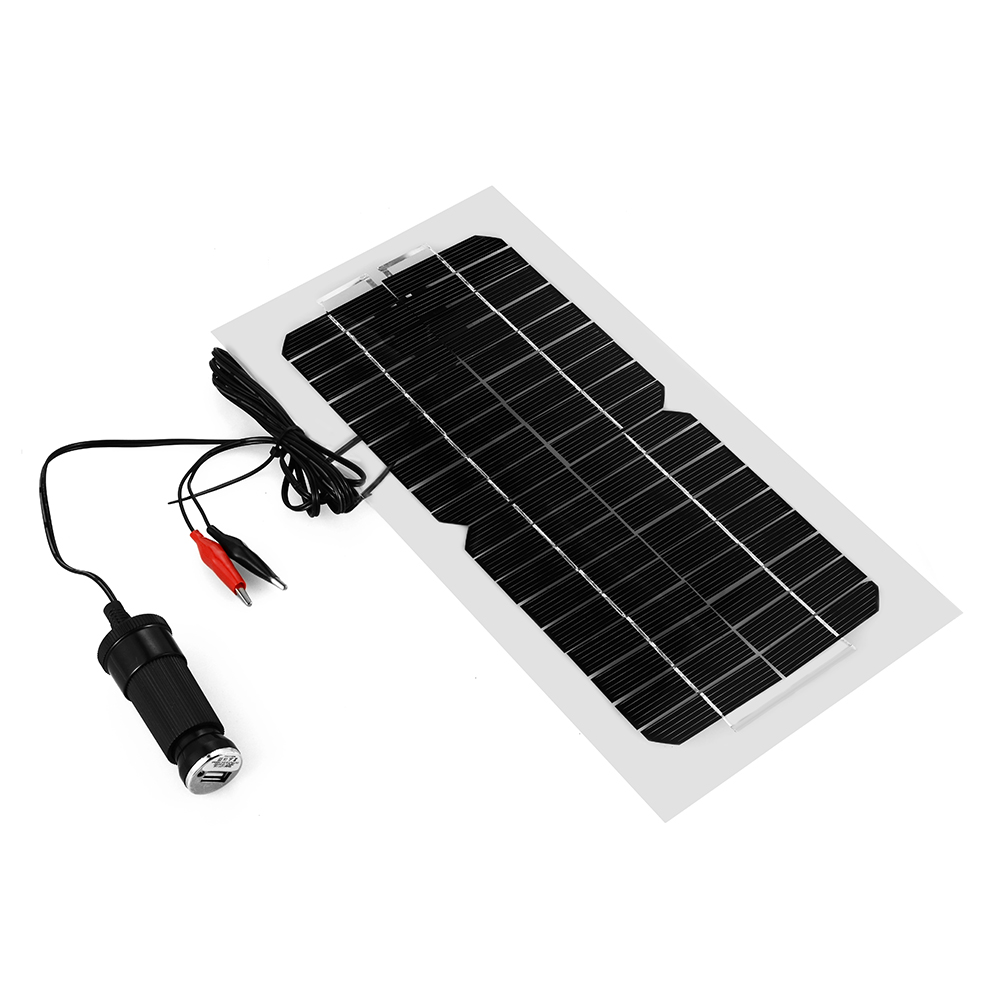 5.5W Solar Panel Battery Charger For Phone Car Auto Motorcycle Truck Boat BC567(China (Mainland))