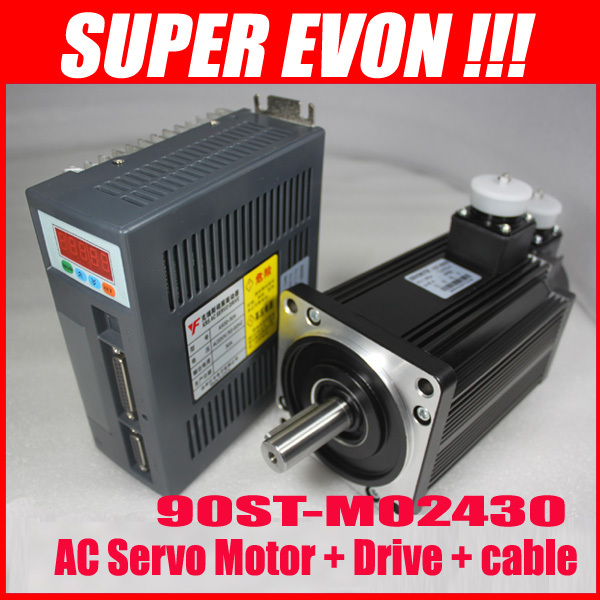 2.4N.M 0.75KW AC SERVO MOTOR 3000RPM 90ST-M02430 + Matched Servo Driver B009(China (Mainland))