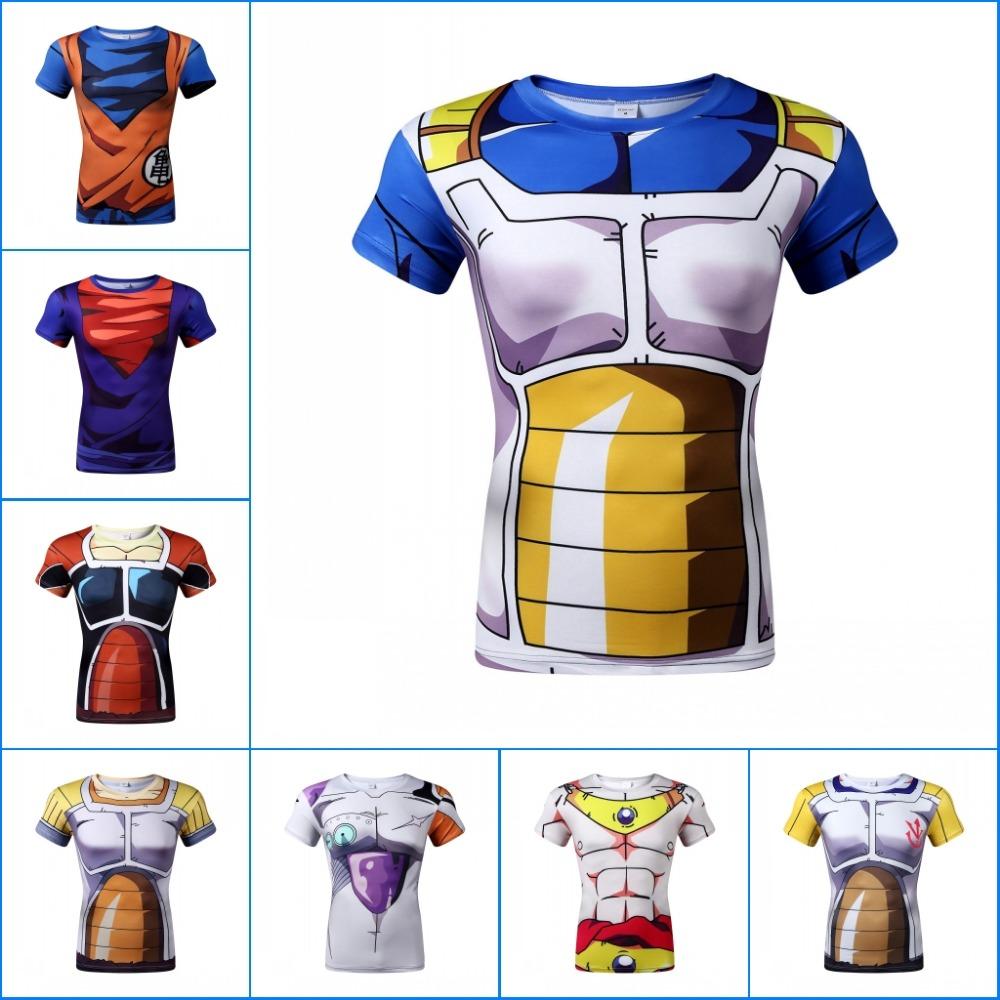Newest Men Fashion Anime Super Saiyan T shirt Dragon Ball Printed Short Sleeve Tees Tops Summer Sport Fitness Casual Tshirt(China (Mainland))