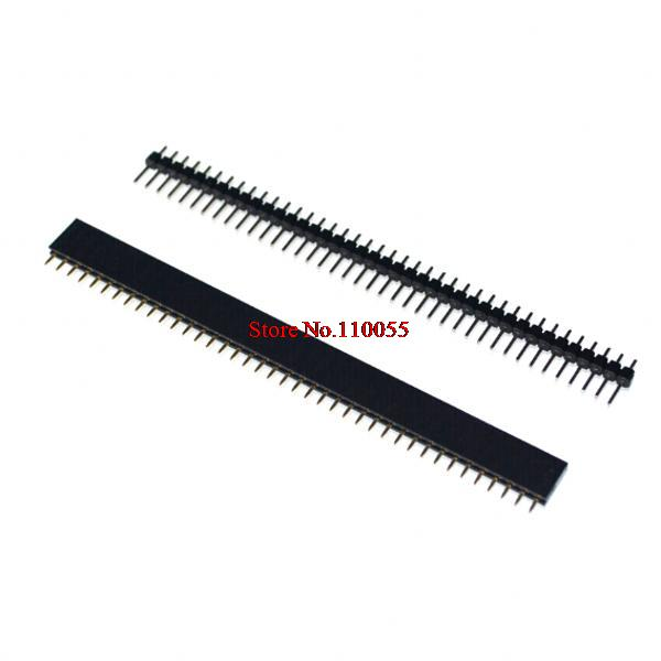 20pcs 1x40 Pin 2.54mm Single Row Female & Male Pin Header connector(China (Mainland))