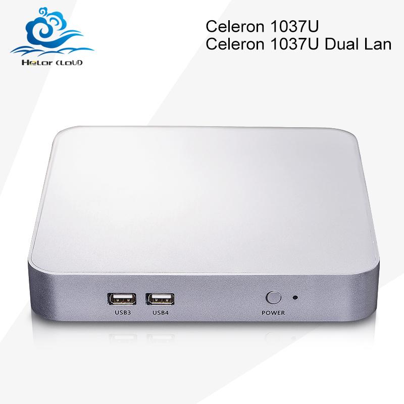 High Performance Mini desktop pc celeron 1037Ul Dual lan 1.8Ghz Windows 7 8 10 linux USB 3.0 HDMI +VGA(China (Mainland))