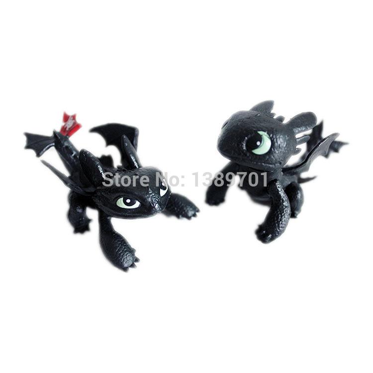 2pcs/lot How To Train Your Dragon 2 Plush Toy Toothless Gragon Stuffed Animal Movie Dolls 3-5cm(China (Mainland))