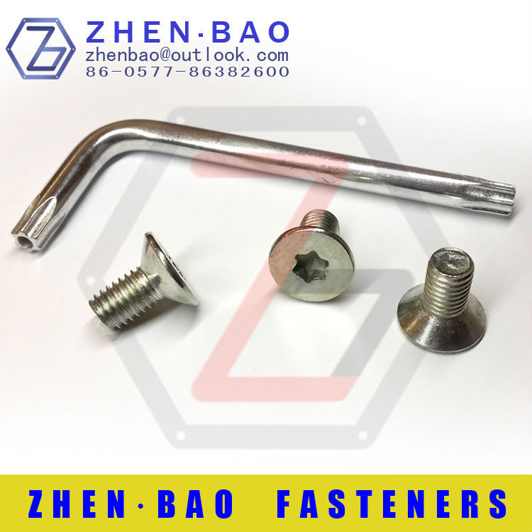 [sales] 10pcs,M8*16,Countersunk head Torx bolts,T40 torx screws (Each package is free to send a T40 Torx wrench)<br><br>Aliexpress