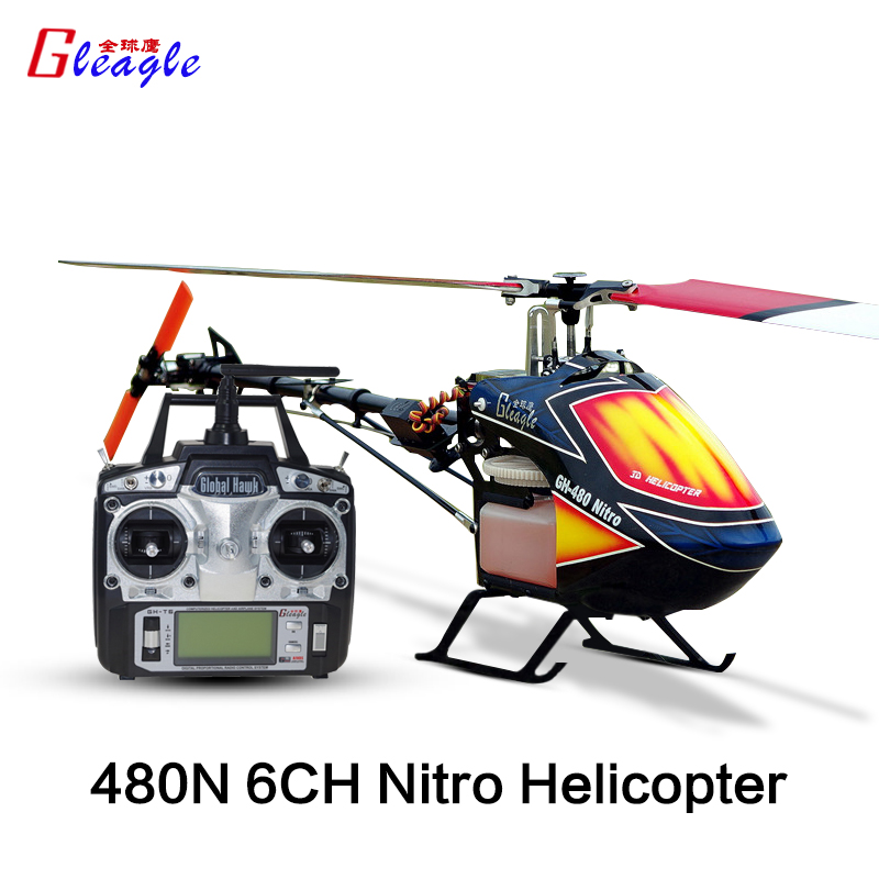 Gleagle 480N 2.4G 6CH RC Fuel Helicopter RTF RC NItro helicopter 15Engine 180CC gasolin helicopter 60A ESC/Carbon fiber Hot sale(China (Mainland))
