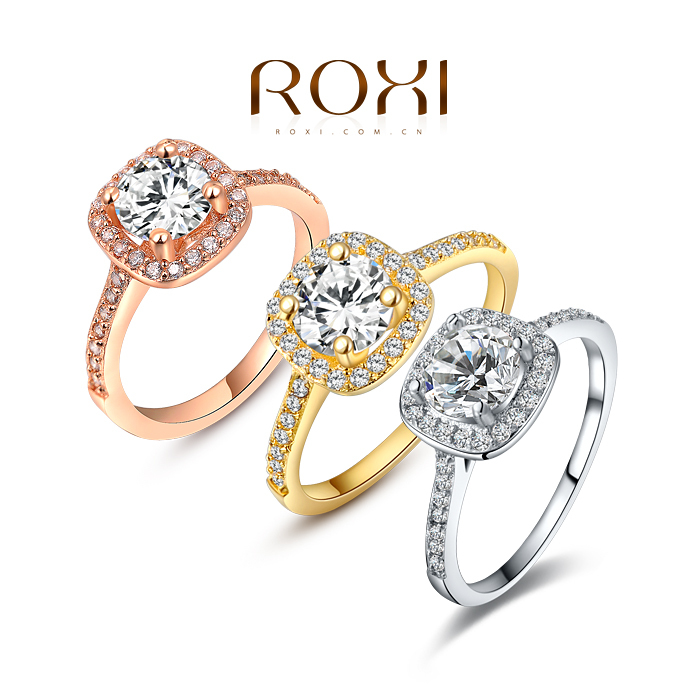 ROXI brand 2014 New arrival,delicate crystal rings,FREE SHIPPING,wedding ring,best gift for a girlfriend,Manual mosaic,101009438(China (Mainland))