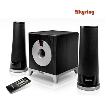 Good CHRIES CRS-2180 Wireless Multimedia Speaker Remote Volume / Subwoofer Laptop Audio 2.1 Free Shipping