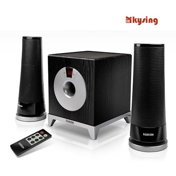 Good CHRIES CRS-2180 Wireless Multimedia Speaker Remote Volume / Subwoofer Laptop Audio 2.1 Free Shipping(China (Mainland))